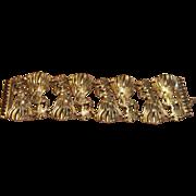 Vintage 3D Jamaican Women Bracelet in Silver