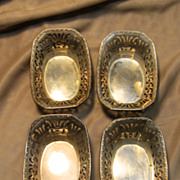 Antique 4-set of Nut or Candy Dish by Webster Company