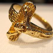14K Yellow Gold Crucifix Ring