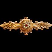 Exquisite Vintage Etruscan Brooch in 9K Gold