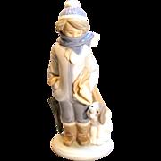 """Vintage """"Winter"""" Figurine By Lladró Circa 1983"""