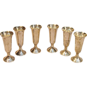 Classic Set of 6 Sterling Silver Cordials by International Silver Company