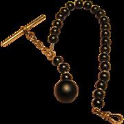 Antique Men's Gutta Percha Watch Fob (Chain)