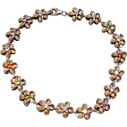 Fabulous Floral Bracelet in Sterling Silver with Multi Colored Cz's