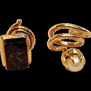 Rare Antique Lapel/Tie pin with Corkscrew Fastener