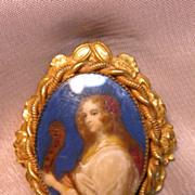 Vintage Portrait Pin by Robert