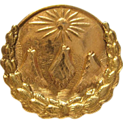 Antique Fraternal Pythian Sisters Brooch/Pin in 10K Two-Tone Gold