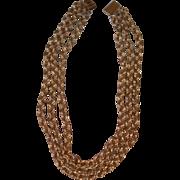 Belcher Link Triple Chain Necklace