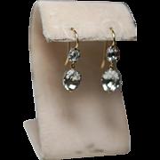 Georgian Double Paste 9ct Earrings