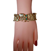 SALE Noah's Arc Solid 10K Gold & Jade Bracelet