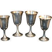 SALE Sterling Goblet w Gold Wash Internat'l (10 Avail)