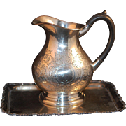 SALE Great Deal: Britannia Bright Cut Elctroplated Pitcher + 1799 Tray