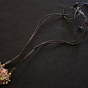 Vintage Afghan Kuchi Earring Pendant on Cord