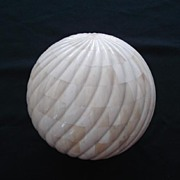 Decorative Beautifully Overlaid Bone on Wood Sphere