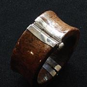 Antique Naga Bone Bracelet With Silver Pin Clasp