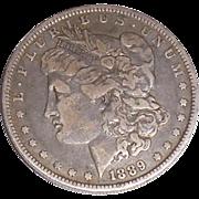 1889 Morgan Silver Dollar O New Orleans