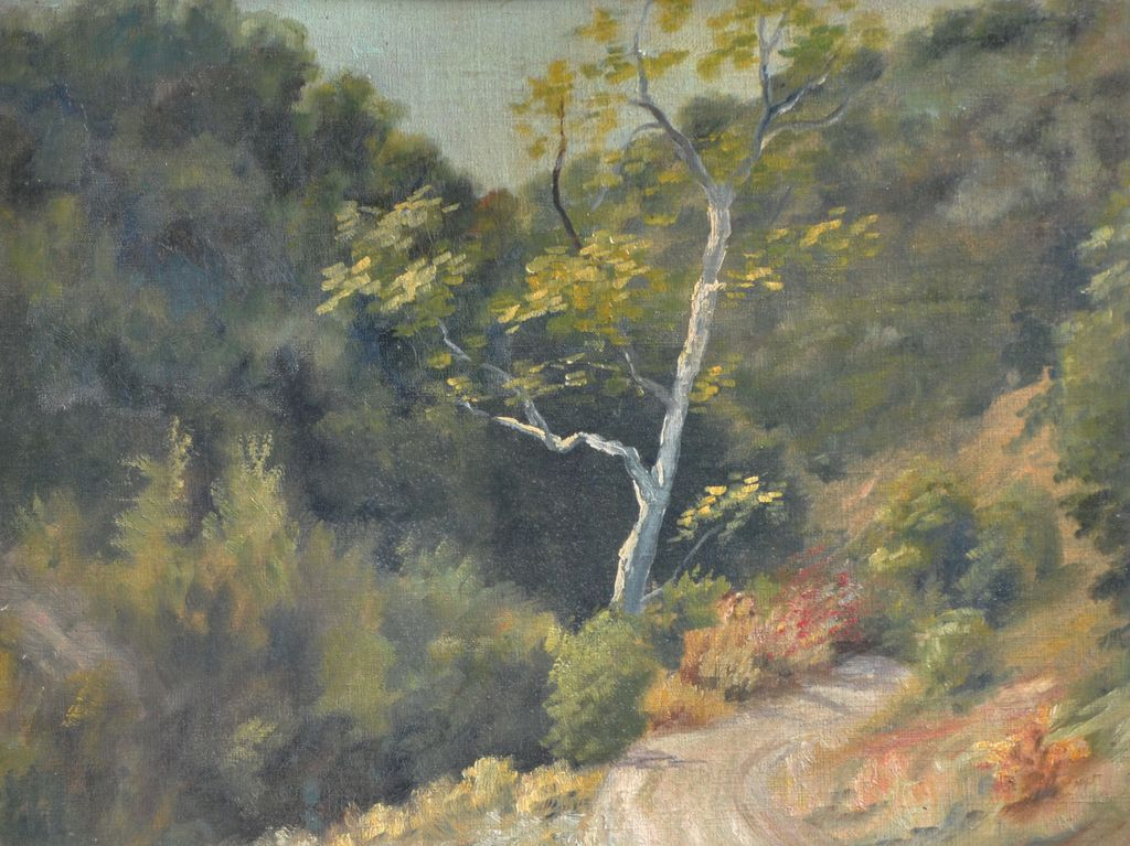 Nice Oil on Board Landscape, Unsigned