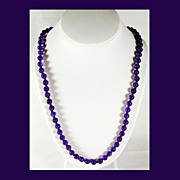 SALE Dark Purple Amethyst Beads with Vermeil Closure