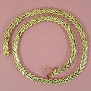 "SALE 27.3 grams 14K Gold Necklace in Original Case, 17 1/4"""