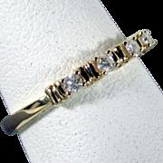 SALE 18K Diamond Wedding Band Size 7