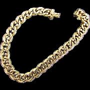 20.8 Grams 14K Italian Yellow Gold Marine Link Bracelet, 8 Inches Closed