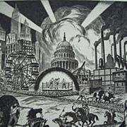 Ralph Fabri , National Academy Artist, Original etching