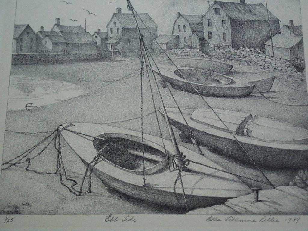 Ella Fillmore Lillie (1884-1972)  original lithograph