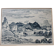 SOLD Adolf  Dehn     Lake in the Garden of the Gods    AAA Print