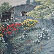 Shigeburo Ishida  Japanese  Watercolor  pre war