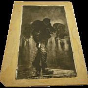 "Joseph Pennell  ""A Scavenger"" 1885 Original Illustration"