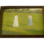The Croquet Players  1890 Impressionism, Oil painting