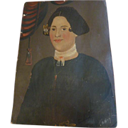 American folk art, 1840 , Prior- Hamblin oil portrait