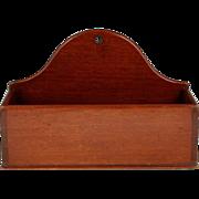 Fine Circa 1825 English Mahogany Dovetailed Wall Box