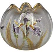 Beautiful Late 19th Century Mont Joye Rose Bowl Legras Glassworks, France