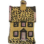 Early 19th Century Prattware Cottage Form Money Box