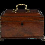 Fine George III Mahogany Tea Caddy