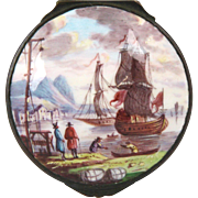 Fine Late18th/Early19th Century Bilston Battersea Staffordshire Enamel on Copper Snuff Box wit