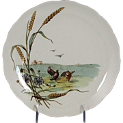 Charming Circa 1885 Brown, Westhead, Moore & Co. Porcelain Plate with Pigeon Motif