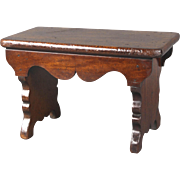 Wonderful Circa 1850 English Mahogany Child's Plank Stool
