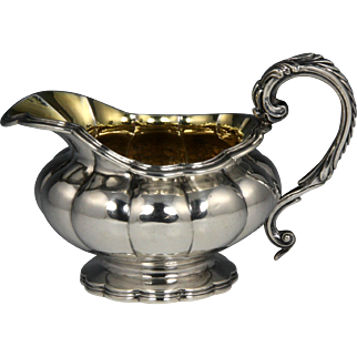 Lovely Late Georgian Sterling Melon Form Jug with Poignant Inscription Hallmarked for Joseph Angell I, London, 1829