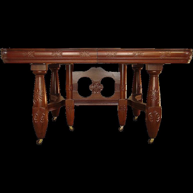 Victorian mahogany banquet table