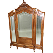 16138 Antique French Victorian Three-door Wardrobe