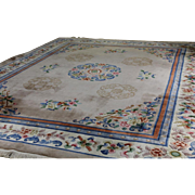 SOLD Antique Chinese Wool Rug, 12 foot x 16 foot!!
