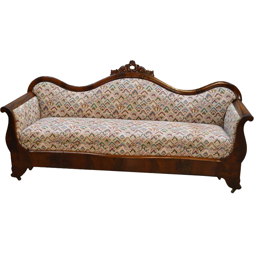 Antique Empire Flame Mahogany Period Sofa PRICE REDUCED  : 166681L from rubylane.com size 850 x 850 png 560kB