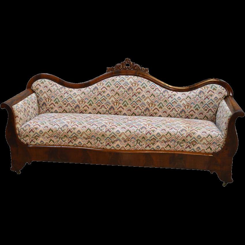 Antique Empire Flame Mahogany Period Sofa Price Reduced