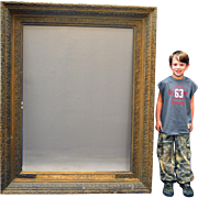 """Oversize Gold Carved Mirror Frame - 63"""" tall"""