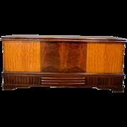 Art Deco Multi-Veneer Inlaid Cedar Chest by Roos