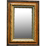 SOLD Antique Victorian Multi-Carved Molded Gold Gesso Oak Wall Mirror