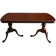 Mahogany Chippendale Dining Room Table by Drexel
