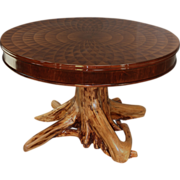 Custom Inlaid Root Entrance Table